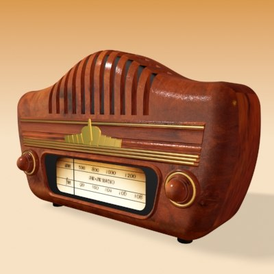 3d model old time radio