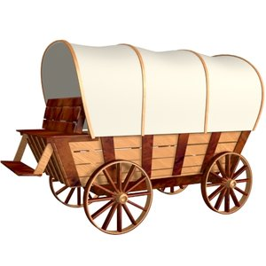 covered wagon 3d model