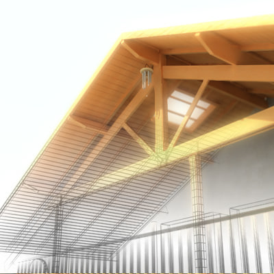 house roof 3d max