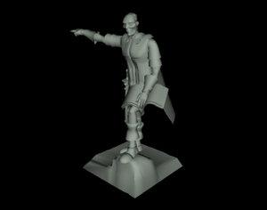 3ds max statue general centurion