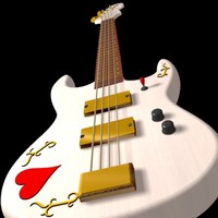 3ds max bass guitar