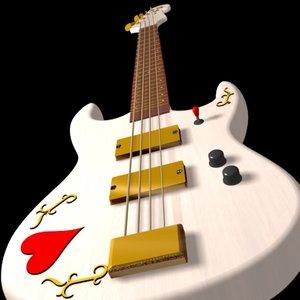 3ds max bass guitar