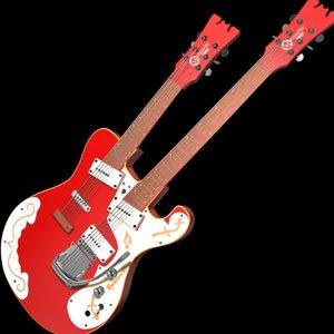 maya double neck guitar