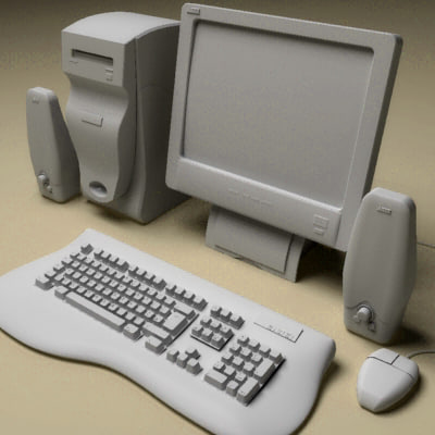 home computer pc keyboard 3d model