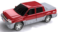 chevy avalanche utility vehicle 3d model