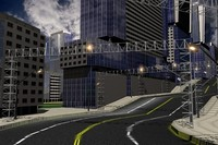 city building pack road 3d model
