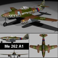 free 3ds model messerschmitt me262a1 jet fighter