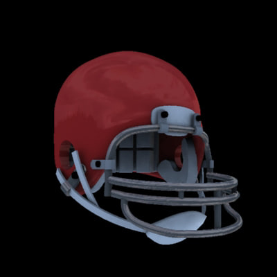 3ds max football helmet