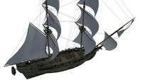 Sea ship brig