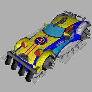 free sport car deaftrack 3d model