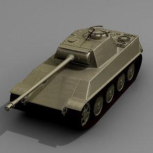 3d war panther tank