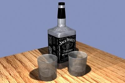 free max model jack daniel s bottle