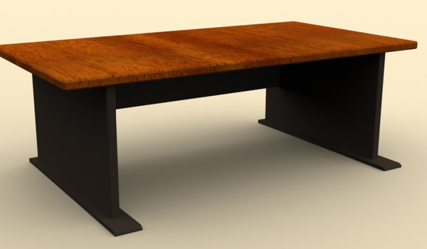 free workstation table 3d model