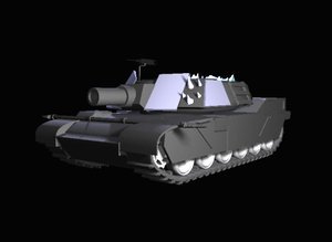 lightwave tank abrams cannon
