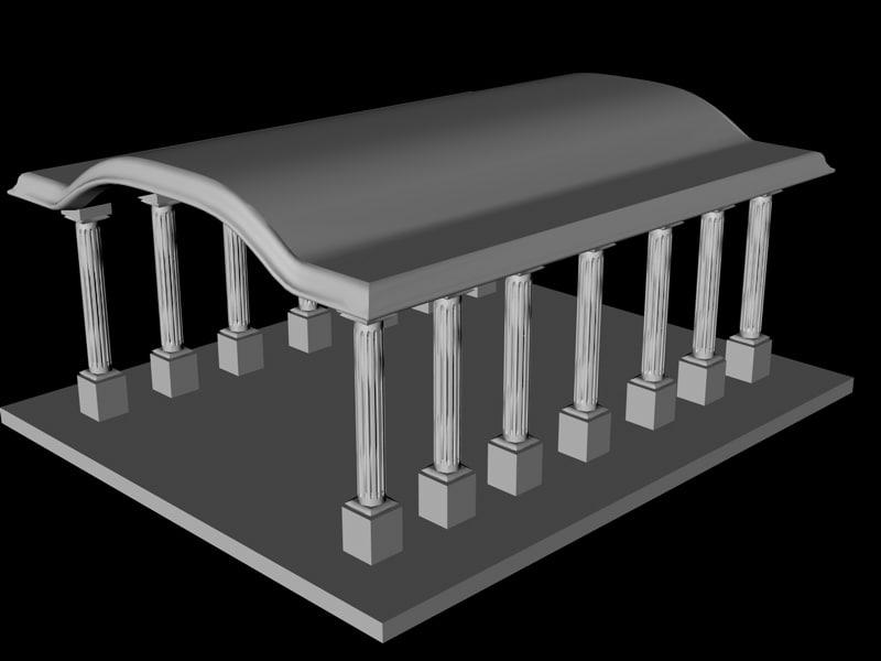 maya archway columns