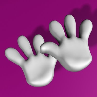 toon hand 3d max