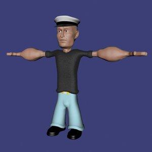 3d sailor cartoon character