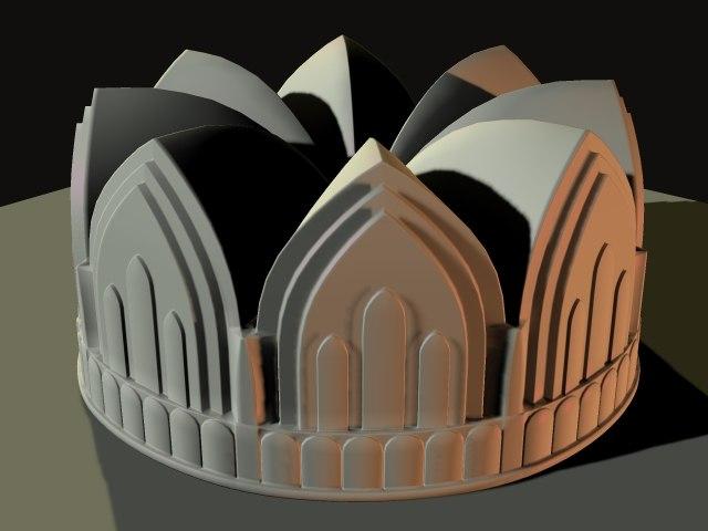 3d cake pan model