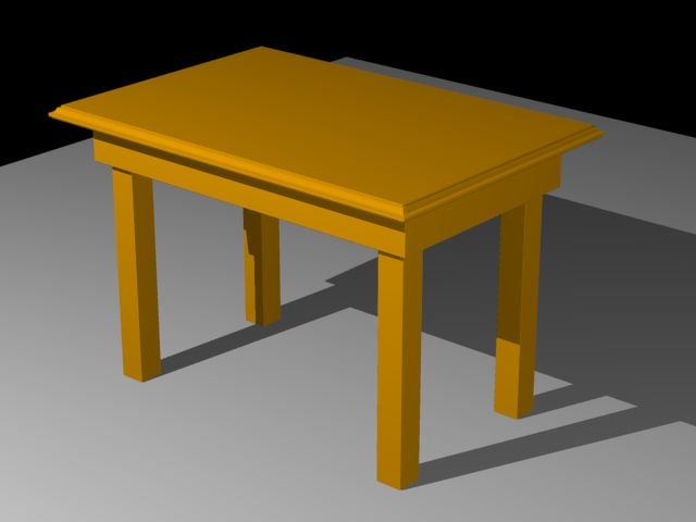 table traditional 3d obj