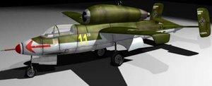 3d heinkel jet fighter