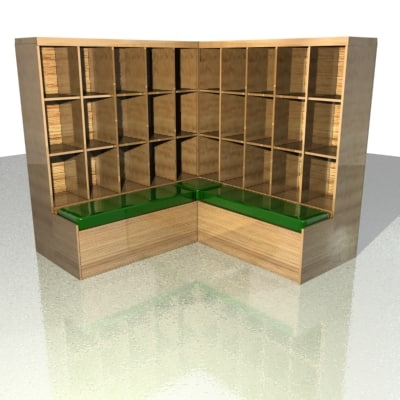 3d corner storage unit