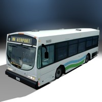 3ds max bus airport shuttle