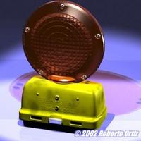barricade warning light 3d model