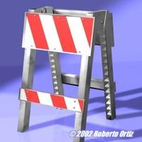 3d barricade modelled