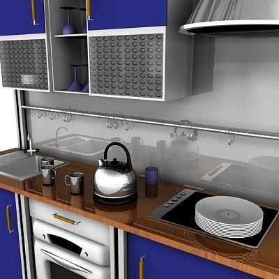 3d kitchen unit model