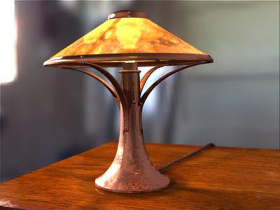 3d lamp table scene model