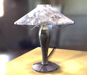 lightwave lamp table scene