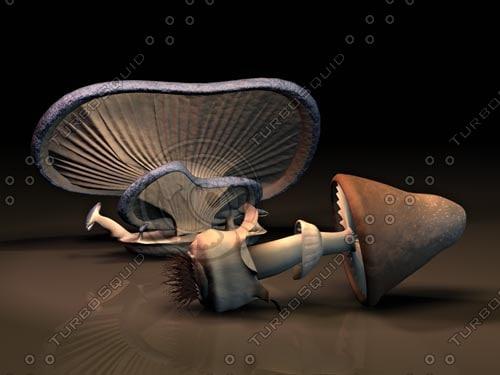 oyster mushroom 3d 3ds