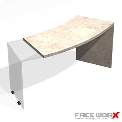 3d table glass model