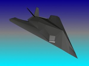 3d model f-117