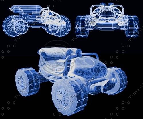 3d vehicle moon model