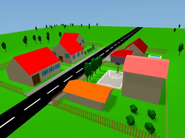 3d model cartoon enviroment