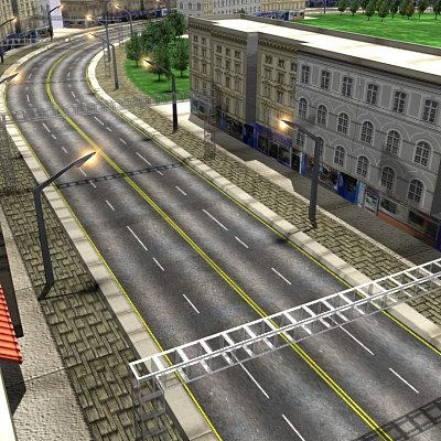 suburban city track building 3d model