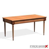 3d desk writing model