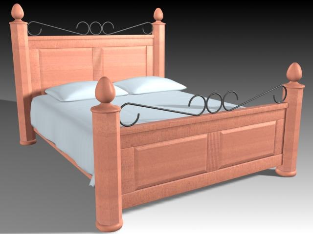 3d model of bed furniture
