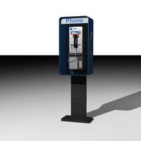 3d model phone pay payphone