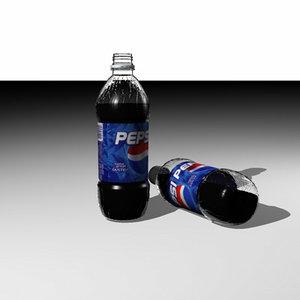 bottle soda 3d dxf