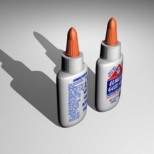 glue 3d model