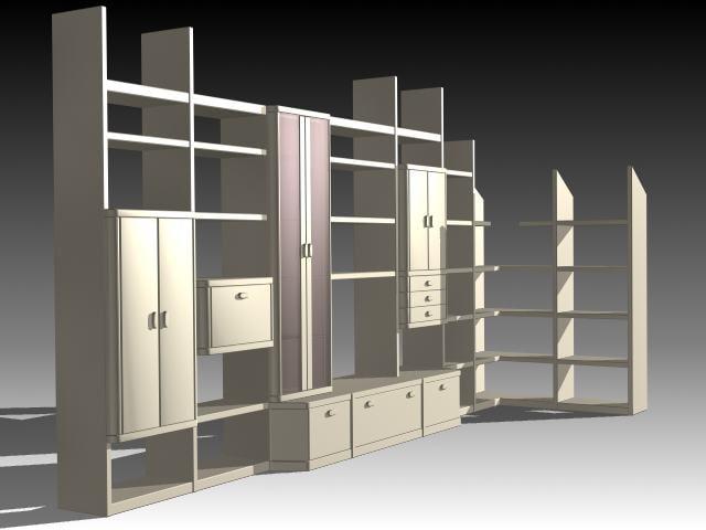 furniture cabinet wardrobe 3d model