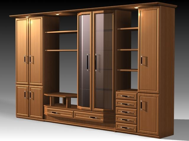 3d model furniture cabinet wardrobe