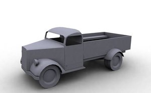 german wwii truck opel blitz 3d model