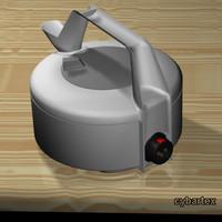 3ds plastic kettle