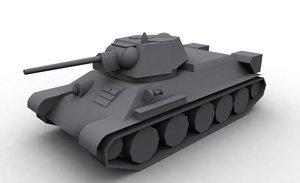 3d model soviet t-34 76 tank