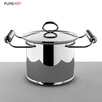 cookware lowpot pot 3d model