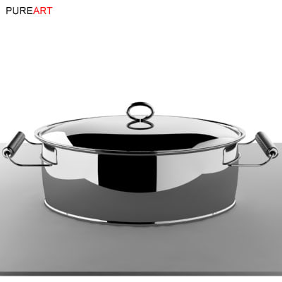cookware ovalpot pot 3d model