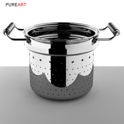 3ds max cookware colander mikya